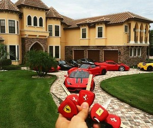 ferrari, car, and house image