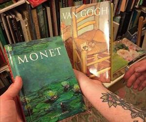 book, monet, and van gogh image