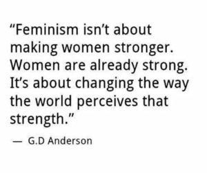 feminism, woman, and quotes image