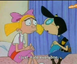 hate, hey arnold, and quotes image