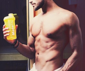 abs, energy drink, and gorgeous image