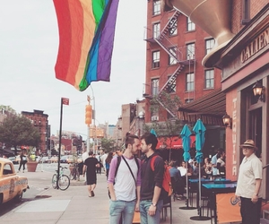 flag, gay guys, and gay couple image
