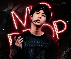 bts, jin, and mic drop image