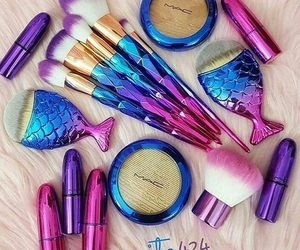 makeup, colors, and blue image