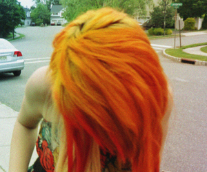 awesome, orange hair, and read hair image