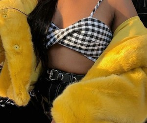 yellow jacket, instagram blogger, and outfits 2018 image