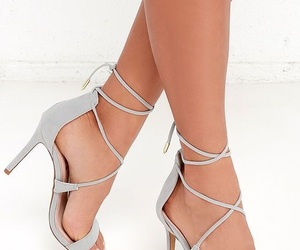 grey, shoes, and heels image