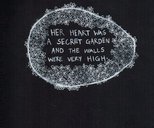 quotes, heart, and garden image