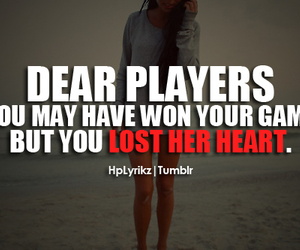 player, heart, and quote image