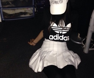 adidas, white, and words image