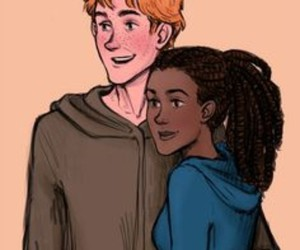 george, harry potter, and angelina johnson image