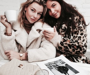 fashion, friends, and coffee image