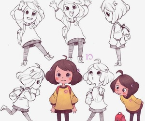 art, character design, and girl image