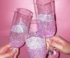 glitter, light, and pink image