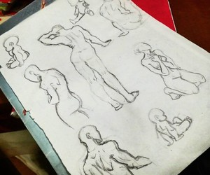 body, child, and drawing image
