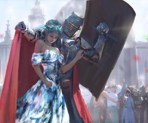 princess, art, and knight image