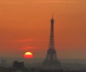 paris, red, and sun image