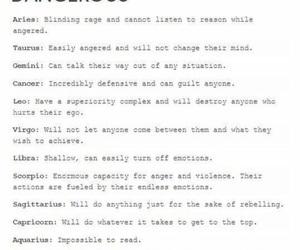 horoscope, aquarius, and astrology image