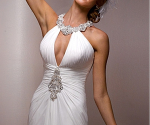 dress, wedding gowns, and bridesmaid dress image