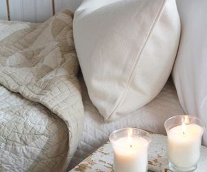 bedroom, candles, and home image
