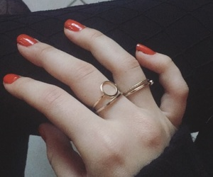 red, red nails, and black aesthetic image