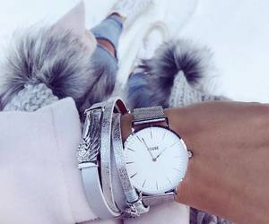 bracelets, fashion, and outfit image