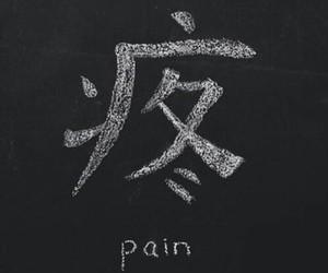 pain, sad, and black image