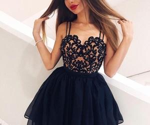 homecoming dresses, dress, and black homecoming dresses image