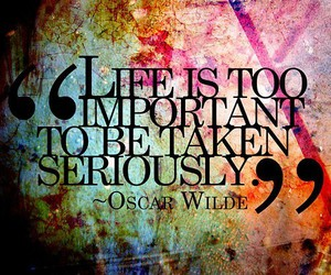 life, quotes, and oscar wilde image