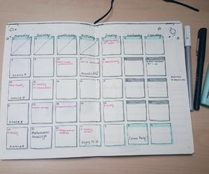 calendar, january, and organization image