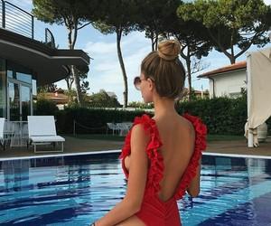 bikini, blonde, and russian image