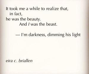 beast, beauty, and dark image