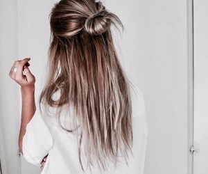 bun, blonde, and blonde hair image