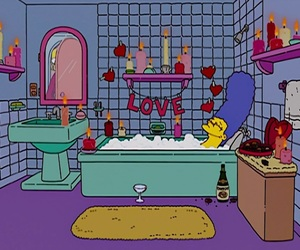 90s, the simpsons, and love image