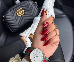 nails, gucci, and bag image