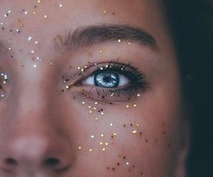 eyes, glitter, and blue image