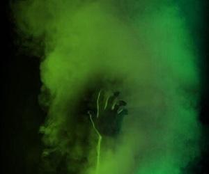 hand, smoke, and aesthetic image