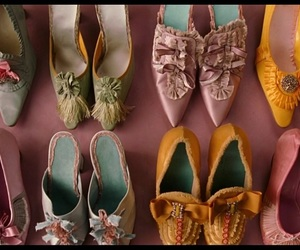 shoes, marie antoinette, and colors image
