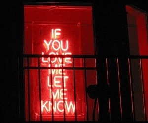 love, red, and light image