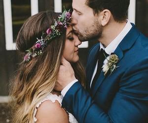 couple, sweet, and wedding image