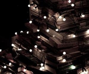 book, lights, and christmas image