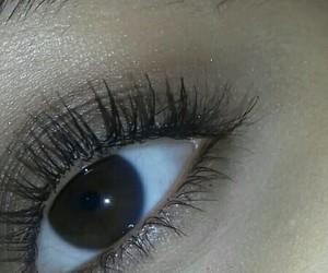 brown, eye, and eyelashes image