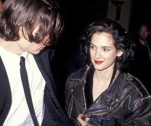 winona ryder, johnny depp, and couple image