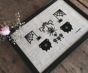 cross stitch, haute macabre, and needle craft image