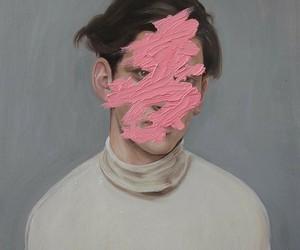 art, pink, and boy image