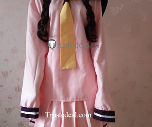 anime cosplay, cute anime girl cosplay, and pink school outfit image