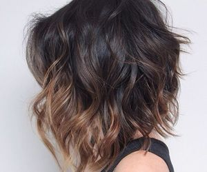 wave hair, lob, and ombre lob image