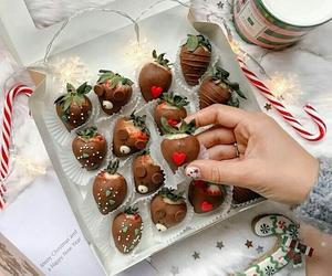 chocolate, fruit, and holidays image