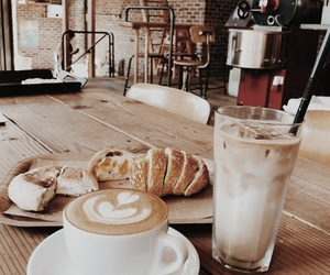 coffee, aesthetic, and bread image