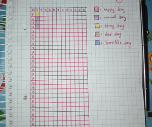 colours, diary, and notebook image